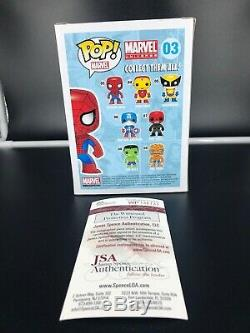 Stan Lee Signed Autographed Spiderman #3 2013 Funko Pop With COA By JSA