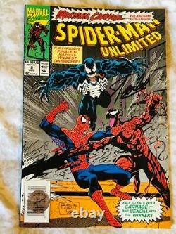 Stan Lee Signed Comic Spiderman Unlimited Stan Lee Excelsior Approved Hologram