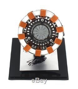 Stan Lee Signed Marvel Avengers Iron Man Light-Up Arc Reactor with Display Case