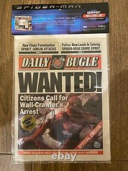 Stan Lee Signed Spider-Man Daily Bugle Movie Prop Newspaper Replica