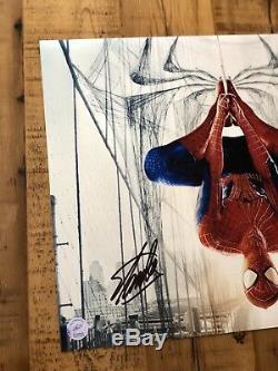 Stan Lee Spider-Man 16x20 Autograph Signed Marvel Legend Excelsior COA Authen