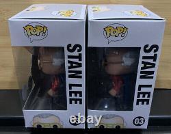 Stan Lee Superhero Red Metallic Chrome Funko Pop Signed with COA 6 of 12