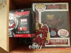 Stan Lee signed Hulkbuster Funko Pop WithCOA Marvel Collectors Corps Avengers