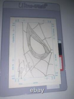 Stan Lees Sketch Card Signed And Sketch Spiderman