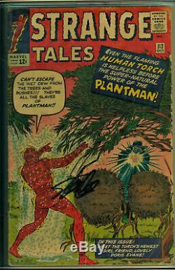 Strange Tales #113 CGC 3.0 SS Signed Stan Lee 1st Appearance Plantman