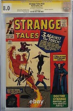 Strange Tales #122 Cgc 8.0 Ss Signed Stan Lee Human Torch