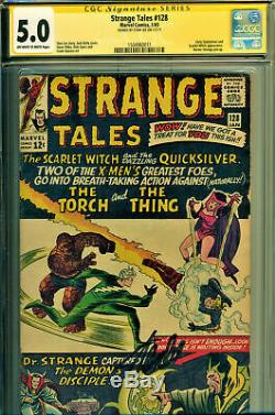 Strange Tales #128 CGC 5.0 SS Signature Series Signed Stan Lee