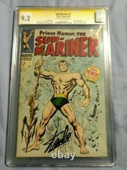 Sub-Mariner #1 CGC SS 9.2 (NM-) Signed By Stan Lee, CGC #1240734010