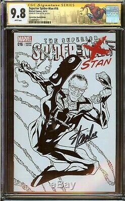 Superior Spider-man #16 CGC 9.8, Signed Stan Lee 2013 Sketch Edition Variant