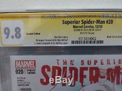 Superior Spiderman # 20 150 J Scott Campbell Variant CGC SS 9.8 Signed Stan Lee