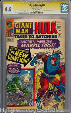 TALES TO ASTONISH #65 CGC 4.5 SS STAN LEE SIGNED CGC #1196990029 dns