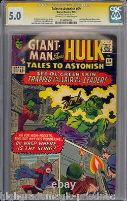 TALES TO ASTONISH #69 CGC 5.0 OWW SS STAN LEE SIGNED CGC #196990026 dns