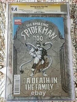THE AMAZING SPIDER-MAN #700 CGC 9.4 SS signed by the legendary Stan Lee