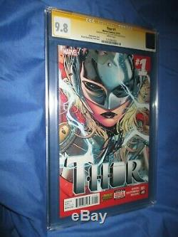 THOR #1 CGC 9.8 SS Signed by Stan Lee on 92nd Birthday (2014/Jane Foster/Movie)