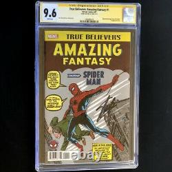 TRUE BELIEVERS AMAZING FANTASY 1 CGC SS 9.6 SIGNED by STAN LEE! #15 HOMAGE