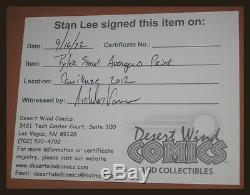TYLER STOUT THE AVENGERS SIGNED BY STAN LEE THOR Mondo Poster MARVEL COMICS