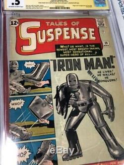 Tales Of Suspense #39 Cgc 0.5 Yellow Label Unrestored SS Stan Lee Signed