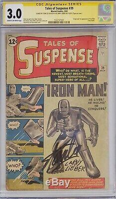 Tales Of Suspense #39 Cgc 3.0 Ss Signed Stan Lee Larry Lieber 1st Iron Man