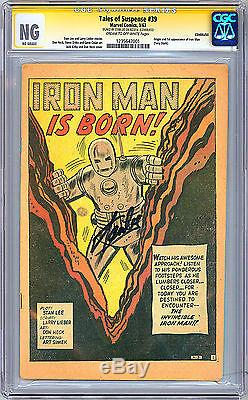 Tales Of Suspense #39 Cgc-ss -ng- Coverless Signed Stan Lee 1st Iron Man 1963