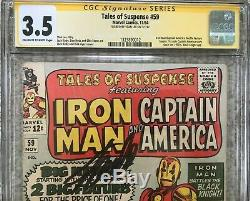 Tales Of Suspense #59 11/64 CGC SS 3.5 Stan Lee Signed 1st Solo Cap Since 1950s