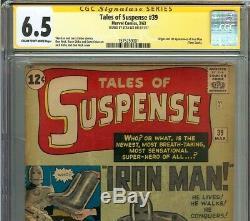 Tales of Suspense #39 CGC 6.5 Signed STAN LEE 1st app. IRON MAN Tony Stark KIRBY