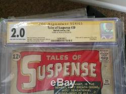 Tales of Suspense # 39 Signed by Stan Lee, CGC 2.0