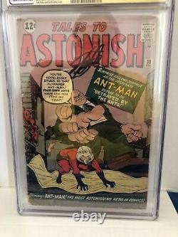 Tales to Astonish #38 CGC 2.0 Stan Lee Signed 1st appearance of Egghead Color