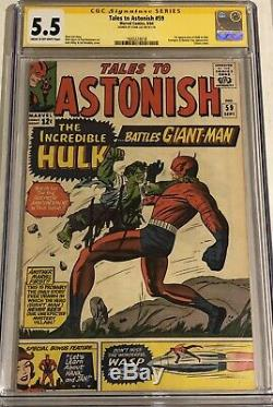 Tales to Astonish #59 CGC 5.5 Signed by STAN LEE 1st Hulk in TITLE! ONLY 30 SS