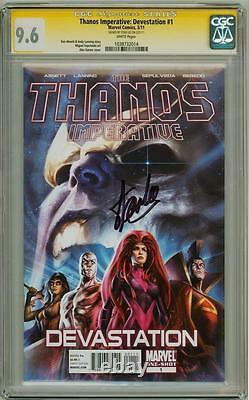 Thanos Imperative Devestation #1 Cgc 9.6 Signature Series Signed Stan Lee Movie