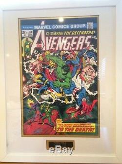 The Avengers Marvel Comics Stan Lee Hand Signed Framed Presentation £449