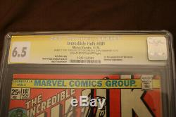 The Incredible Hulk 181 CGC 6.5 Signed by the Late Stan Lee 1st app Wolverine