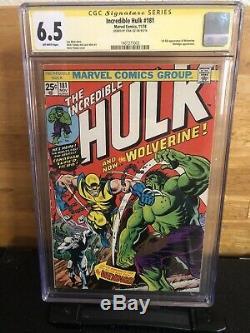 The Incredible Hulk #181 (Nov 1974, Marvel) Cgc 6.5 Signed Stan Lee