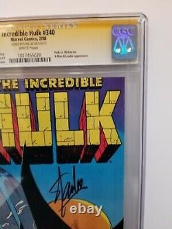 The Incredible Hulk 340 CGC 9.6 NM+ SS Signed by Stan Lee, WP Todd McFarlane Key