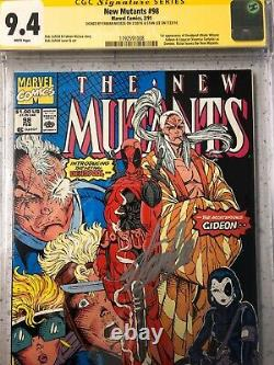 The New Mutants #98 Cgc 9.4 Signed Stan Lee 1st Appearance Of Deadpool & Domino