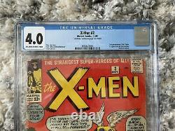 The X-Men #2 Marvel Comics 1963 CGC 4.0 Signed By Jack Kirby