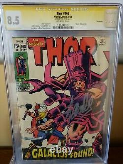 Thor #168 Galactus Found (Savannah Pedigree) Signed by Stan Lee in Boston CGC8.5
