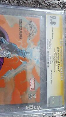 ThorCrown Of Fools 1 CGC 9.8 signed Stan Lee & Chris Hemsworth just3000 copies