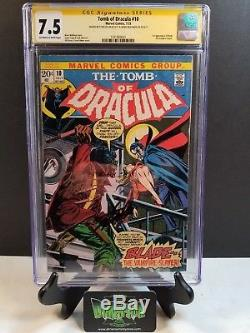 Tomb Of Dracula #10 Cgc Ss 7.5 2x Signed Stan Lee Marv Wolfman 1st Full Blade