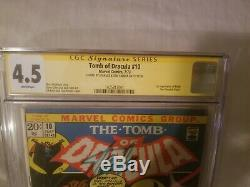 Tomb of Dracula 10 CGC Signed Stan Lee & Tom Palmer 1ST APPEARANCE BLADE movie