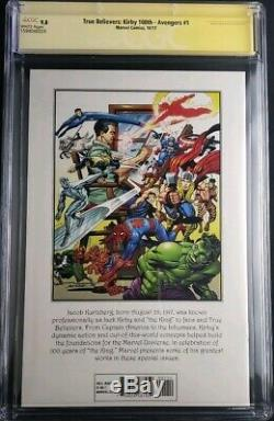 True Believers Avengers 1 9.8 CGC SS Signed By STAN LEE ON HIS 95TH BIRtHDAY