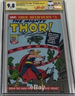True Believers Mighty Thor #1 Signed Stan Lee & Joe Sinnott CGC 9.8 SS Red Label