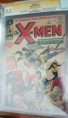 Uncanny X-Men 1 CGC 2.5 Cream to Off White Pages Signed Stan Lee SS Magneto