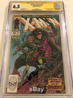 Uncanny X-Men 266 CGC 6.5 SS Signed by STAN LEE 1st Gambit
