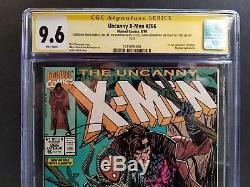 Uncanny X-men #266 Cgc Ss 9.6 5x Signed Stan Lee Jim Lee Claremont 1st Gambit