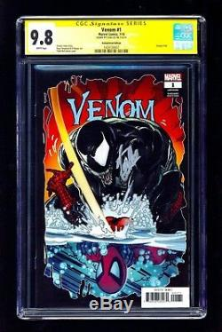Venom #1 CGC 9.8 SS (2018) Remastered Ed. McFarlane Cover Signed Stan Lee