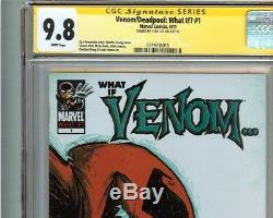Venom Deadpool What If #1 CGC 9.8 NM/MT Signed STAN LEE Tom Hardy Ryan Reynolds