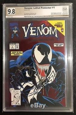 Venom Lethal Protector 1 Signed Stan Lee Todd Mcfarlane Pgx 9.8 Not Cgc Cbcs