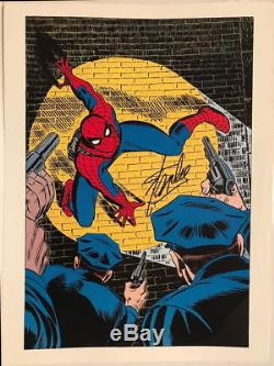 Vintage Marvel 1978 AMAZING SPIDER-MAN Poster HAND SIGNED by STAN LEE w COA