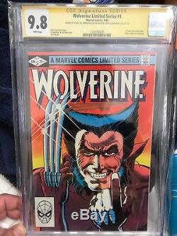 WOLVERINE LIMITED #1 SS CGC 9.8 3x SIGNED BY STAN LEE, Frank Miller & Claremont