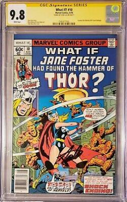 What If 10 9.8 CGC SS Signed By Stan Lee Jane Foster Movie As Thor